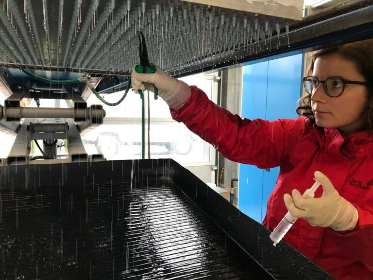 Working with the rainfall simulator